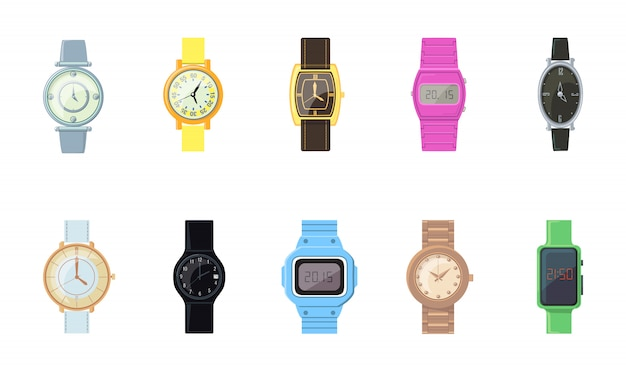 Cartoon wristwatch  icon kit
