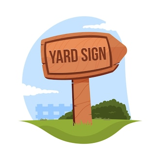 Cartoon yard sign