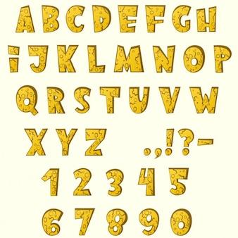 만화 노란 알파벳