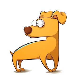 Cartoon yellow dog.