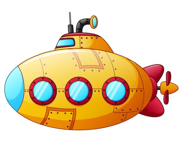 Мультяшная желтая подводная лодка