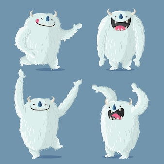 Коллекция персонажей мультфильма ужасный снеговик йети