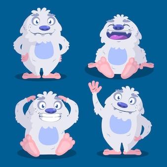 Набор персонажей мультфильма ужасный снеговик йети