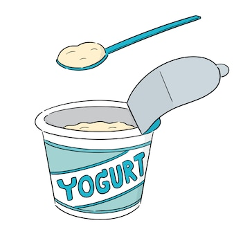 Cartoon yogurt