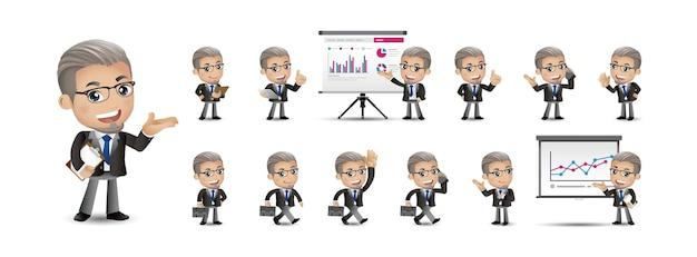 Мультфильм молодых людей деловой человек набор