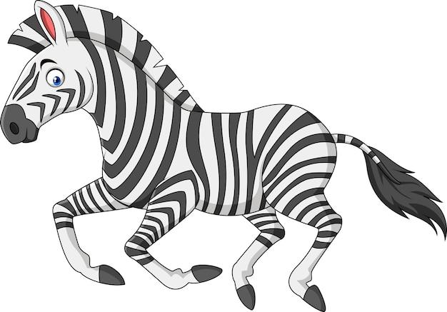 Cartoon zebra running