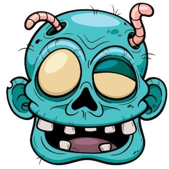 漫画ゾンビの顔
