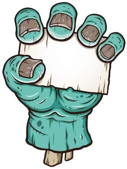 Cartoon zombie hand