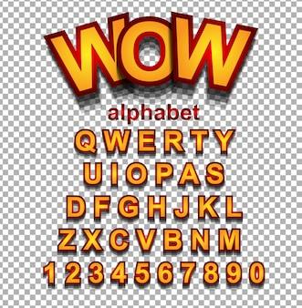Красочный смешной простой шрифт для проекта cartoon, плакат для детей