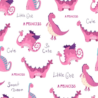 Cartoons dino pattern