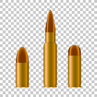 Cartridge case and bullet from weapon