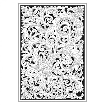 Carved openwork pattern card