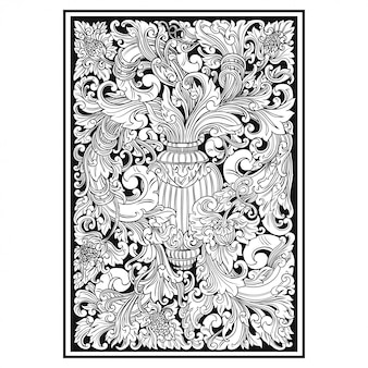 Carved openwork pattern