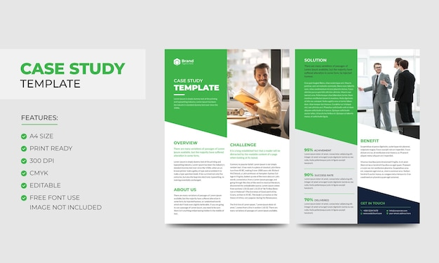 Шаблон тематического исследования корпоративный современный бизнес двухсторонний флаер и шаблон плаката
