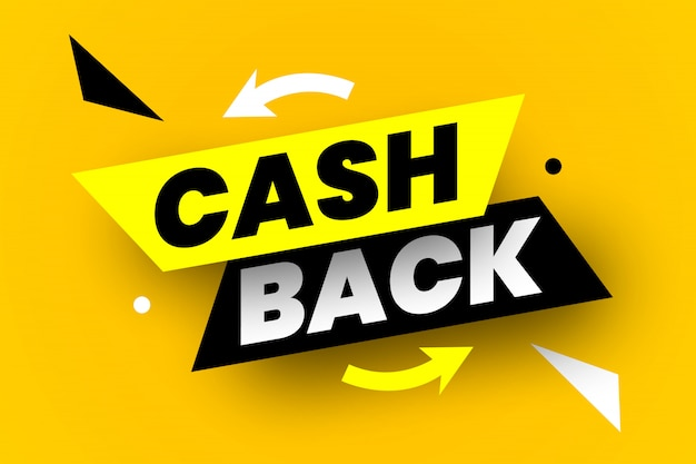 Cash back banner.  illustration.