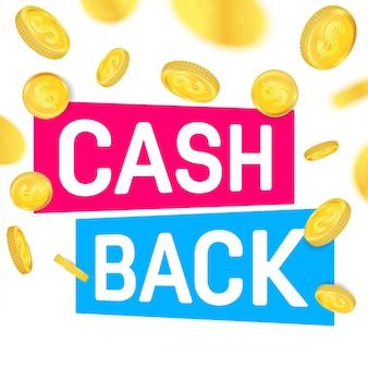 Cash back, cashback return, money refund