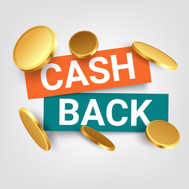 Cash back illustration isolated