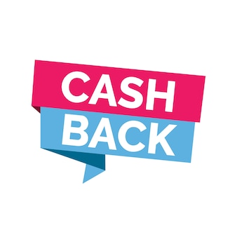 Cash back lettering on bright ribbons