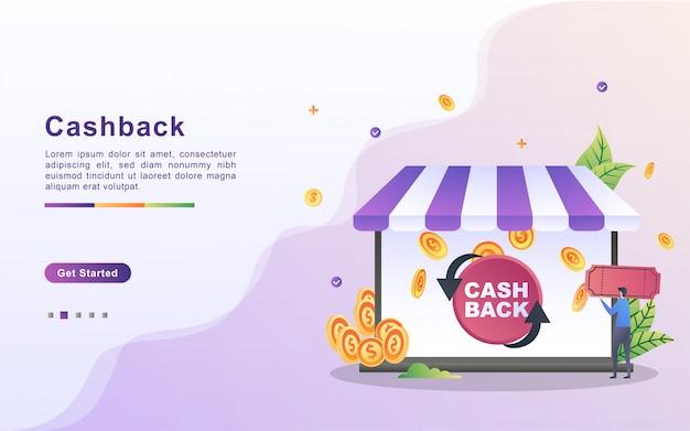 Cash back or money refund concept.