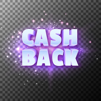 Cash back money reward special promotion text