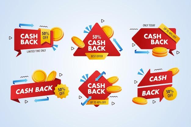Cash back promotion label collection set