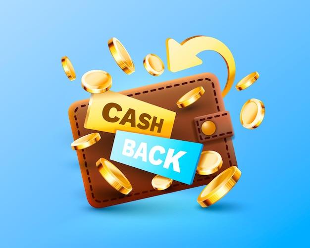 Cash back service financial payment label vector