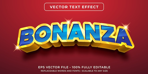 Cash bonanza editable text effect