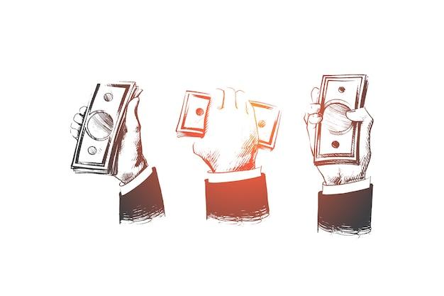 Иллюстрация концепции наличных денег