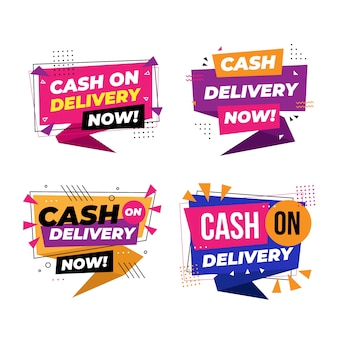 Cash on delivery badge collection