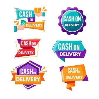 Cash on delivery badge set