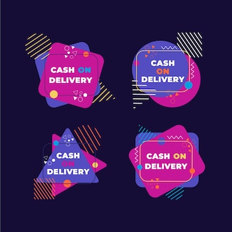 Cash on delivery badges collection