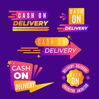 Cash on delivery badges pack