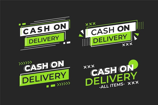 Cash on delivery badges Free Vector