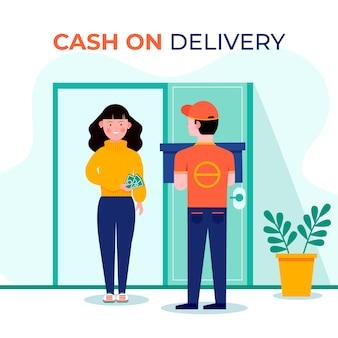 Cash on delivery concept illustartion