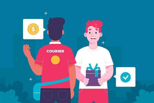 Cash on delivery concept illustration
