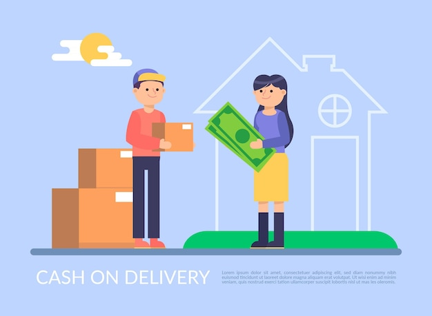 Cash on delivery concept