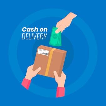 Cash on delivery illustration
