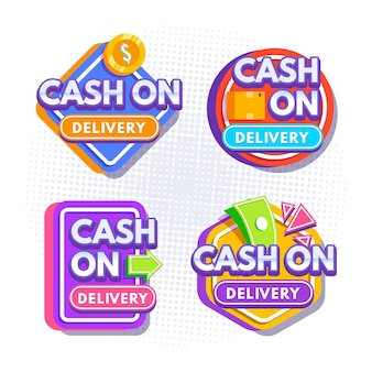 Cash on delivery labels set