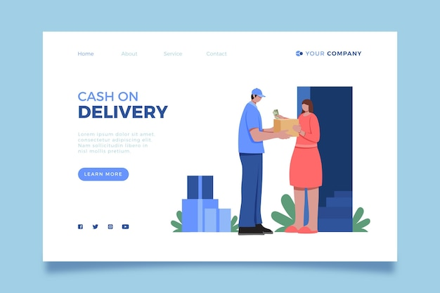 Cash on delivery landing page template