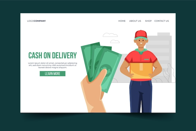 Cash on delivery landing page