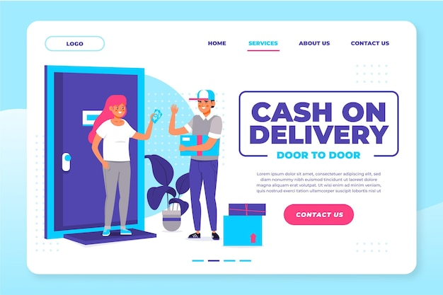 Cash on delivery web template