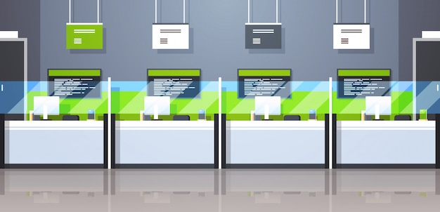 Cash desk windows