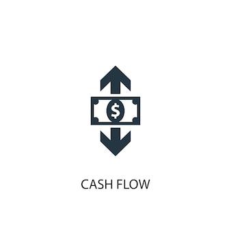 현금 흐름 아이콘입니다. 간단한 요소 그림입니다. 현금 흐름 개념 기호 디자인입니다. 웹 및 모바일에 사용할 수 있습니다.