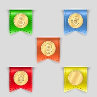 Cash icons set