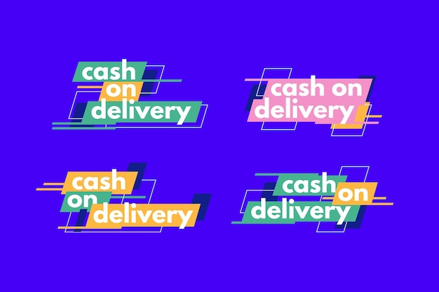 Пакет значков наложенным платежом