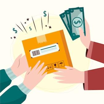 배달 개념에 현금
