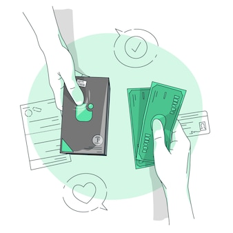 Cash payment concept illustration