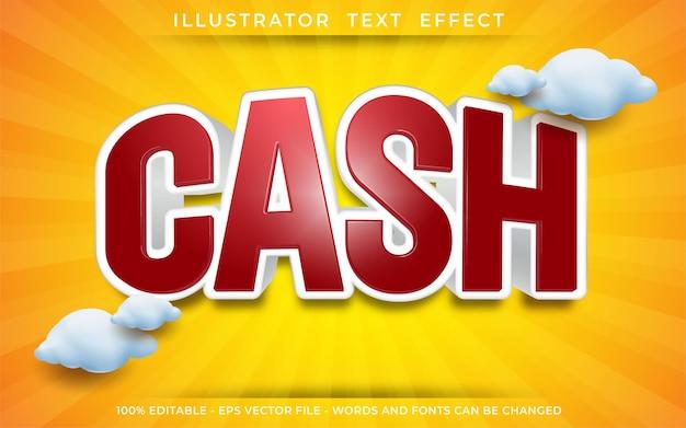 Эффект денежного текста, редактируемый стиль текста 3d