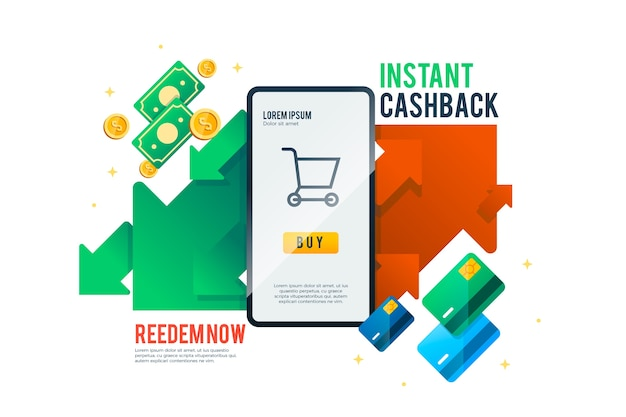 Cashback concept app interface