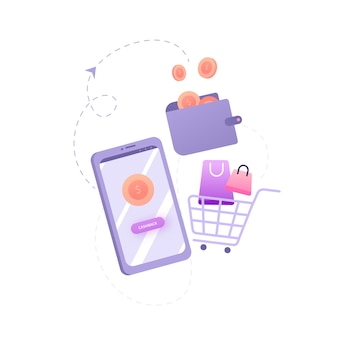 Cashback concept illustration flat design